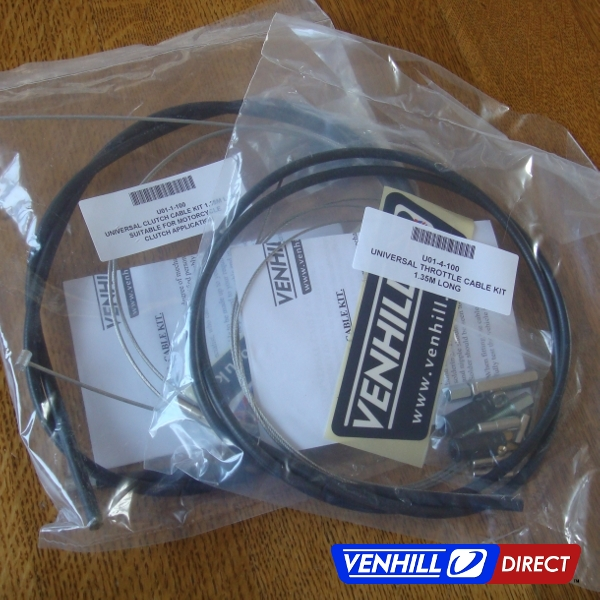 Throttle Cable Making Kit : Venhill universal motorcycle throttle and clutch cable kit